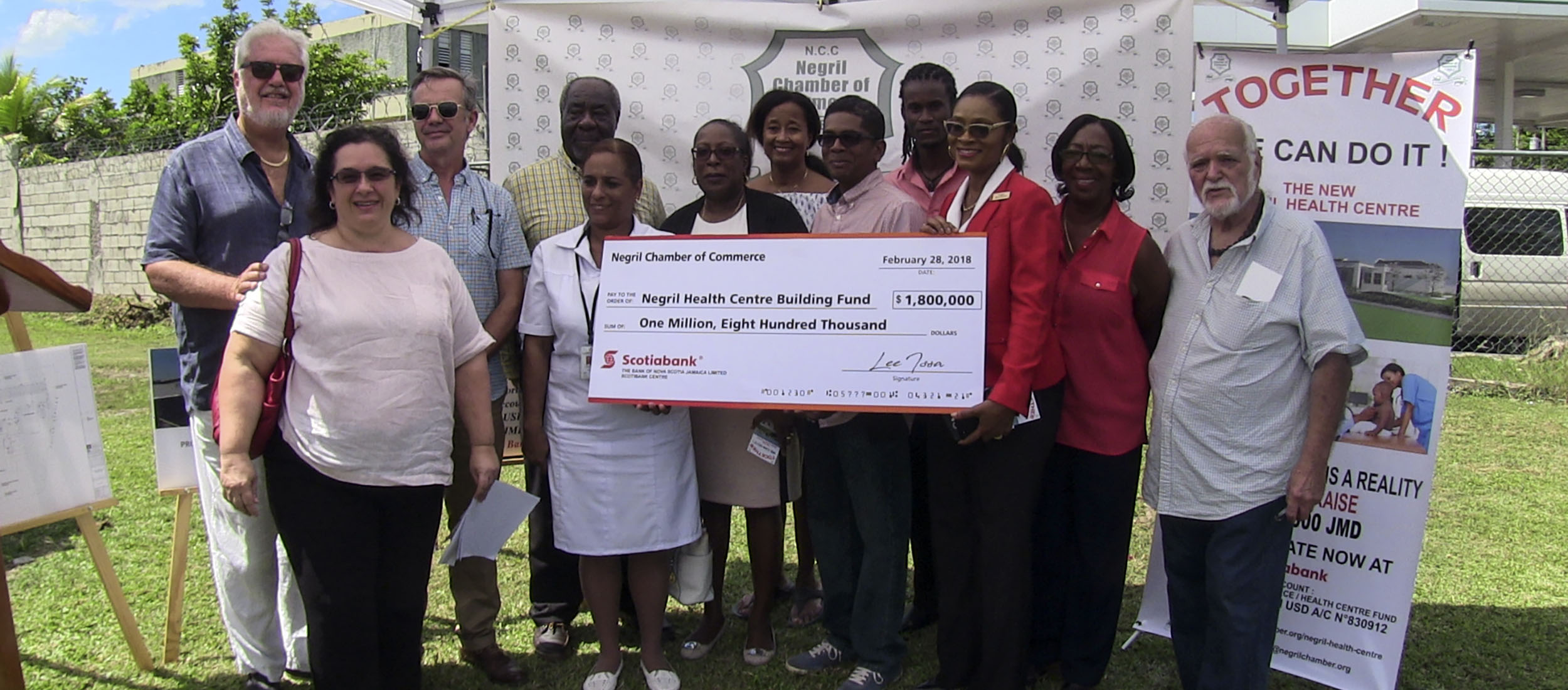 Negril Health Centre Fund NCC Donation YouTube.com Video - Barry J. Hough Sr. YouTube.com Channel