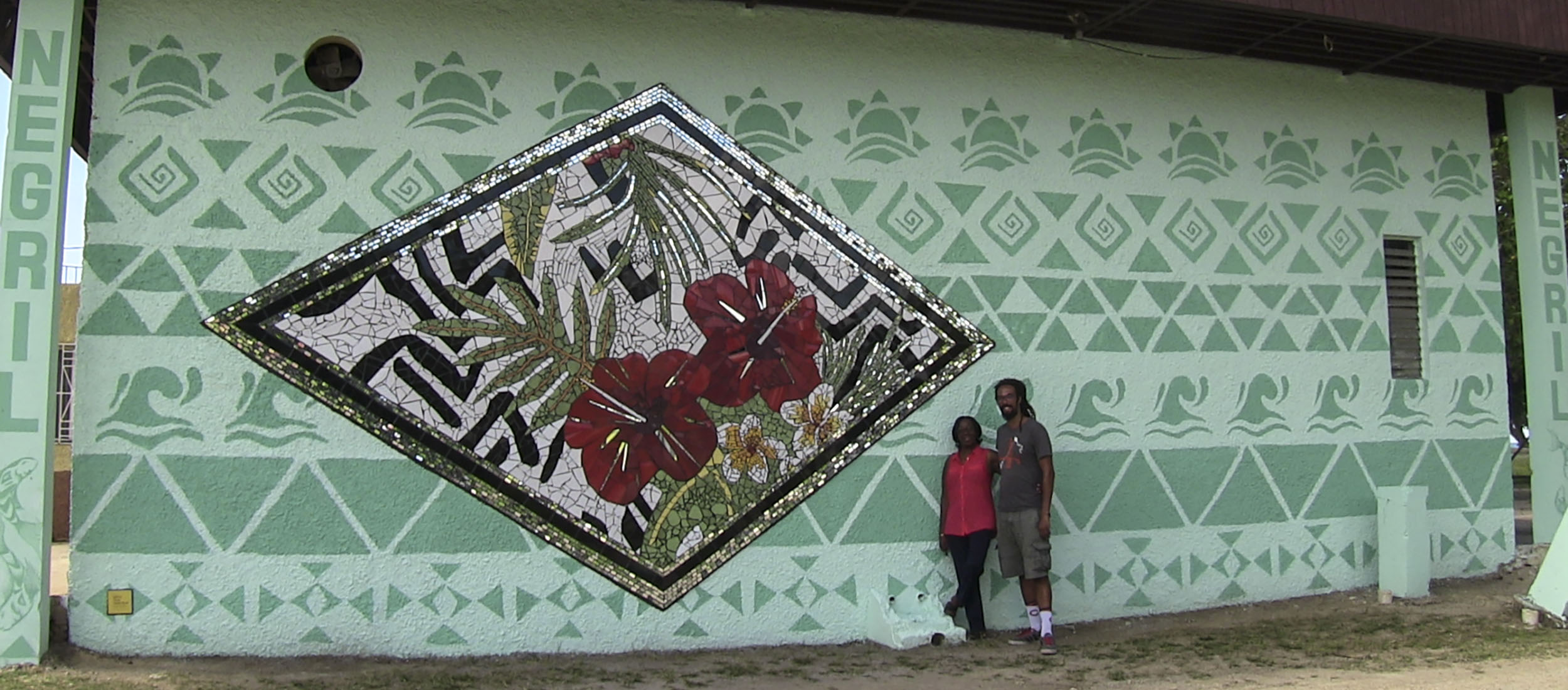 The New Artistic Mural @ the Negril Community Centre